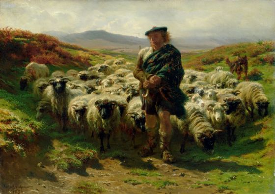 Bonheur, Rosa: The Highland Shepherd. Fine Art Print/Poster. Sizes: A4/A3/A2/A1 (001597)